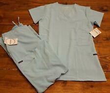 New w/Tags Womens Sz Small Blue Glow Jockey Scrub Set Shirt and Pants