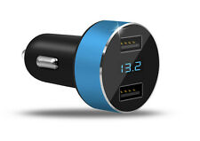 Dual USB Car Charger Adapter LED Display Fast Charging for iPhone and Samsung