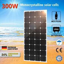 12V 300W Solar Panel Mono Generator Caravan Camping Battery Charge RV 300watt