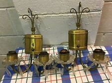 New listing Pair Of Vintage Mcm Hollywood Regency Wall Sconce Light Fixture Chandelier