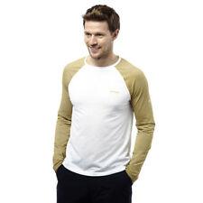 Polycotton Crew Neck Long Sleeve Basic T-Shirts for Men