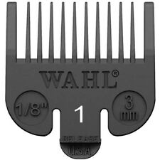 "1/8"" Wahl Professional Attachment Clipper Guide Replacement Guard 3mm #1 Black"