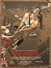 Vincent Aseo Die Hard Movie Art Print Poster Mondo Bruce Willis Alan Rickman HTF