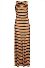 Topshop stripe ribbed maxi dress UK 6 in Tan ( New with tag )