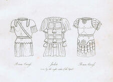 Roman Soldier Jacket - Cuirass (Skirt) - 1809 Copper Plate Engraving