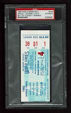 1966 WORLD SERIES GAME 4 TICKET STUB ORIOLES  vs DODGERS  PSA