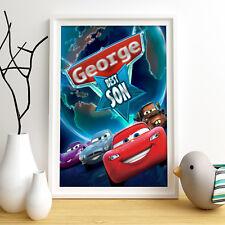 Cars DISNEY PERSONALIZZATA poster A4 Stampa Wall Art NOME PERSONALIZZATO ✔ ✔ consegna veloce