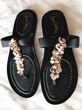 "NIB Sam Edelman Size 7.5M Women's ""BARI"" Thong Sandal With BOX ""SHELL DETAILS"""