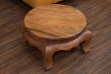 Beistelltisch Rund 40x24 Holz Couchtisch Nachttisch Opiumtisch Blumenhocker Thai