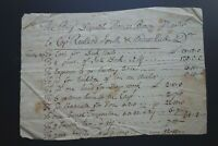18th Century Ship Building Document- Master Brown, Capt Smith and Hall - Newbury