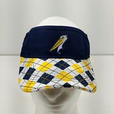 Myrtle Beach Pelicans Minor League Baseball Plaid Tartan Visor Melonwear