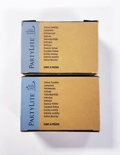 Lot of 2 Boxes PartyLite Votive Candles (12 total) Poinsettia & Musk Pink/Red