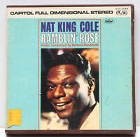 Nat King Cole Ramblin' Rose 4 Track 3 3/4 IPS Stereo Tape Capitol Records 1960s
