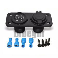 New listing Motorcycle Car Waterproof 12V 24V Phone Dual Usb Socket Charger Voltage Gauge