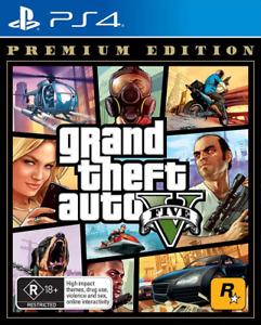 GTA Grand Theft Auto 5 V Premium Edition PS4 Game NEW