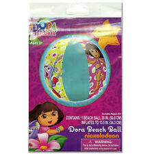 "6 DORA THE EXPLORER Girls Inflatable Pool 20"" Beach Balls Toy 3+ NIP"