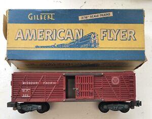 Original Vintage American Flyer S Gauge 929 Car With Box