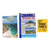 2019 Cornwall Coast Tourist Info Pack  Walk Map Guide SW Coast Path Beach Tides