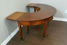 VINTAGE BEACON HILL COLLECTION HALF CIRCLE DROP LEAF COFFEE TABLE RARE