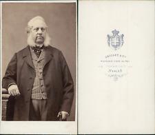 Grillet, Naples, portrait d'homme Vintage CDV albumen carte de visite.