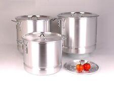 3 BIG Tamale Steamer Vaporera Stock Pots Premium Thick Aluminum 24/32/40 QUART