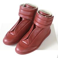 MAISON MARTIN MARGIELA red leather hi-top strap shoes Future sneakers 40 NEW