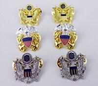 SET US MILITARY GENERAL OFFICER RANK BADGE SHOULDER EAGLE BADGE PIN -0301