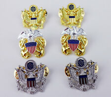 SET US MILITARY GENERAL OFFICER RANK BADGE SHOULDER EAGLE BADGE PIN -0301