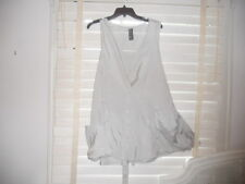 NWOT Lunn ~Lilith France~Art to Wear~Unique Beige Sleeveless Tunic Blouse ~  5
