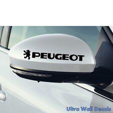 2 x PEUGEOT Aufkleber für rückspiegel Sticker Tattoo Auto 208 306 406 307 108