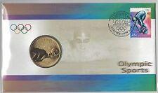 2000 Australia Olympic Sports PNC with $5 Coin - Aquatics