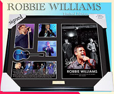 ON SPECIAL! ROBBIE WILLIAMS MEMORABILIA SIGNED FRAME, LIMITED EDITION 499 w/ COA