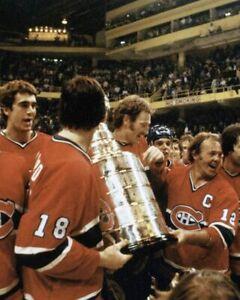 Yvan Cournoyer, Serge Savard, Larry Robinson Montreal Canadiens 8x10 Photo