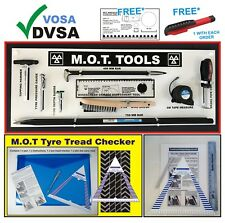 MOT SIGNS | MOT SIGN | VOSA DVSA | MOT 9 TOOLS BOARD STRAIGHT BAR TYRE GAUGE