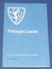TINTAGEL CASTLE GUIDEBOOK  CORNWALL 36 PAGES H.M.S.O. 1972 C.A. RALEGH RADFORD