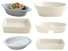 White ceramic baking dishes assorted pie dish flan dish oval baking dish square
