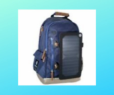 Backpack solar panel Charger School BLUE Camping,hiking bag travel emergency