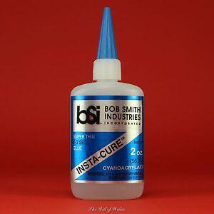 "Bob Smith (BSI) ""INSTA-CURE"" Thin CA Glue - 2 oz Bottle Cyanoacrylate Adhesive"