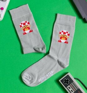 Official Grey Super Mario Toad Organic Cotton Socks from Dedicated