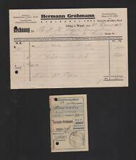 LÖHNE, Rechnung 1928, Hermann Grohmann