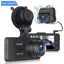 "TOGUARD Both 1080p Dual Dash Cam Front Rear Car Camera 3"" IPS Screen Recorder AU"