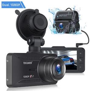 "TOGUARD Both 1080P Dual Dash Cam Front+Rear Car Camera 3"" IPS Screen Recorder AU"