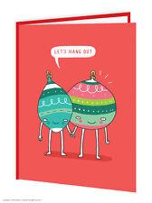 Brainbox Candy Noël CARTES DRÔLE Nouveauté plaisanterie humour boules