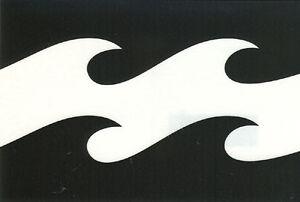 "Billabong Corp 6"" X 4"" Die Cut Sticker DECAL LOGO Surf Skate Snow Wave - Black"