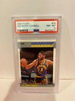 1987 Fleer Joe Carroll Golden State Warriors HOF Basketball Card PSA NM-MT 8 #16