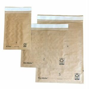 100% Recyclable Padded Mailer Combo 25ea: 7x9 12x9 12x15 Eco Friendly Envelopes