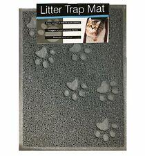 Quality Gray Cat Litter Trap Mat Non-Slip Backing Dirt Catcher Soft on Paws E.