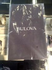"""BULOVA ~2017 Gray Sueded 9.5x 9.5"""" Polishing Cloth ~ New and Sealed"""