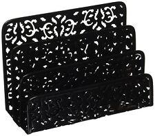 Desktop Organizer Tray Sorter Mail Letter Storage Holder Office Desk Table Black