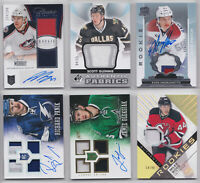 Game Used Patch Numbered Jersey Auto Rare Rookie RC - Pick From List NHL Hockey
